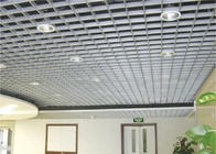 open cell Rectangle Metal Grid Ceiling Lightweight For decorative Suspended Ceiling