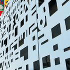 External Commercial Aluminum Wall Panels / Perforated Metal Cladding Panels Facade
