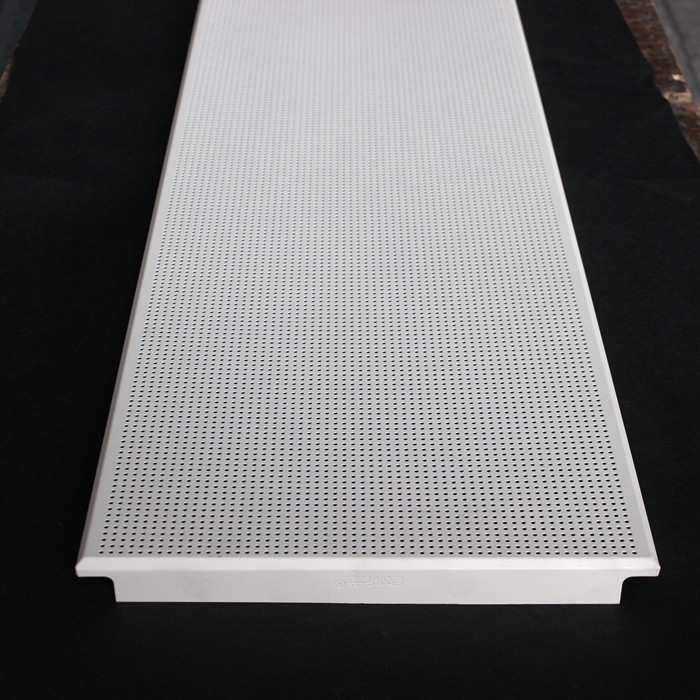 Aluminum Clip In Suspended Perforated Acoustic False Ceiling 300x1200mm Dia 1.8mm