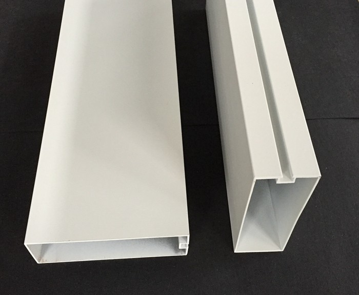 Moisture Proof Commercial Ceiling Tiles , White Aluminum Profile Sound Baffles Ceiling
