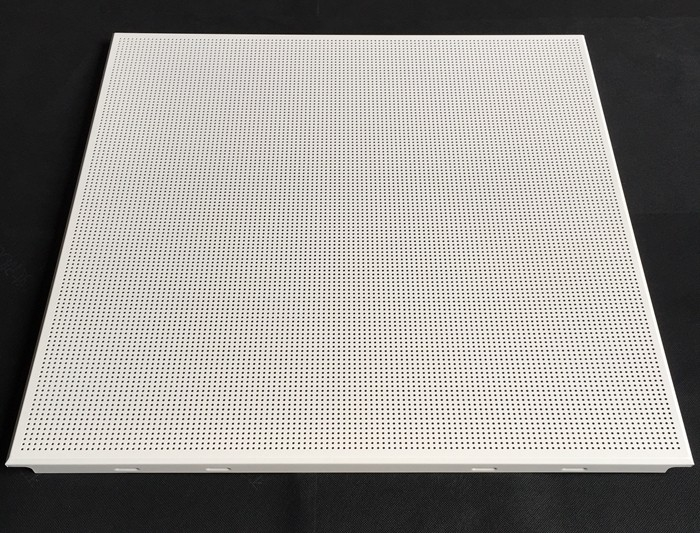 Fireproof Perforated Aluminum 0.7mm Thickness / Metal False Ceiling Tiles 600 X 600mm