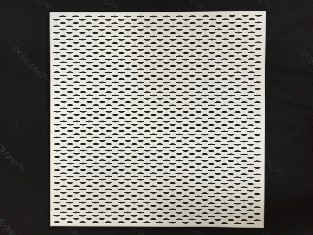600 x 600 Fireproof Acoustic Aluminum Perforated Ceiling panel for Decoration