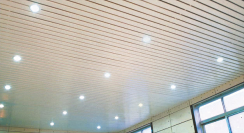 Decorative beveled Strip Suspended Metal Ceiling S shaped , 150mm x 3450mm