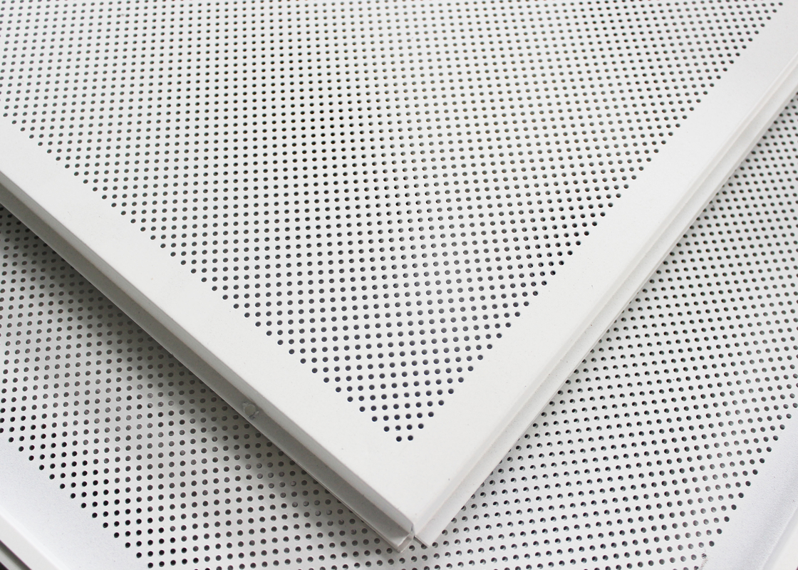 Soundproof Perforated Lay In Ceiling Tiles Floating / 2x2 Ceiling Panels For hall decoration