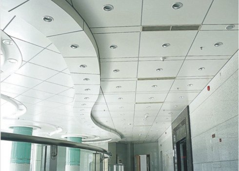 decorative 2 by 4 Clip In Ceiling Panels Metal Square Ceiling , 0.7mm Thickness