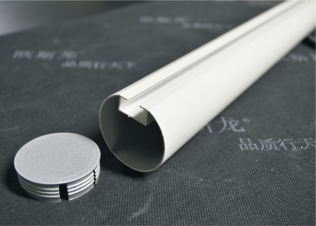Commercial Aluminum Ceiling Tiles / Decorative Drop Ceiling Round Tube DIA50mm