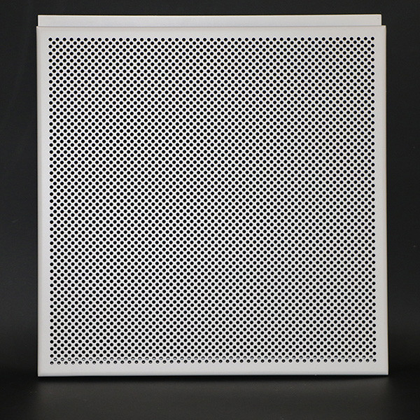 White Aluminum Perforated Hook Drop Suspended Metal Ceiling Tiles Non - Flammable
