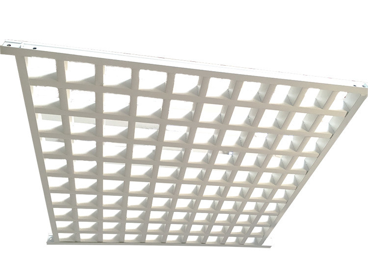 White Powder Coated Metal Grid Panel With Tee Bar , Commercial Suspended Ceiling